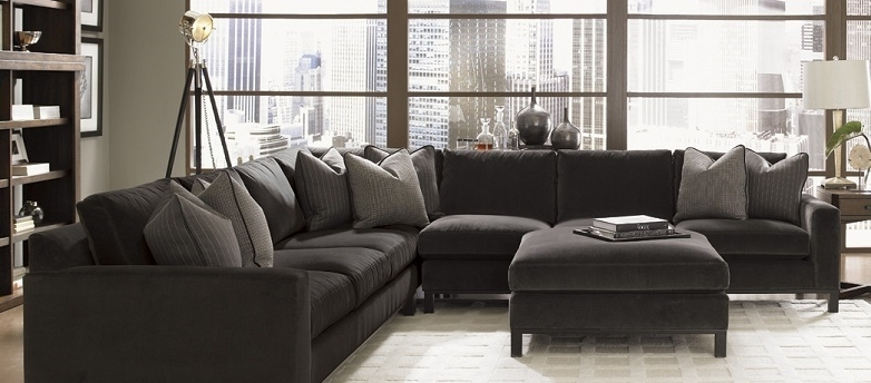 Down Feather Sectional Fabric Sectionals Living Room Fabric With Well Known Down Sectional Sofas (Gallery 8 of 10)