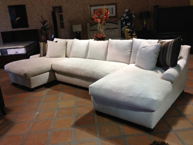 Down Feather Sectional Sofas Pertaining To Widely Used Down Feather Sectional Bradly Double Chaise Feather Down Sectional (View 6 of 10)