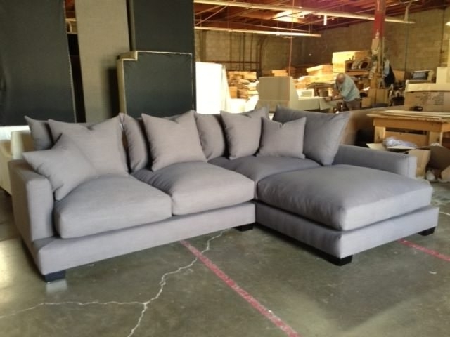 Down Filled Sectional Sofas For Fashionable Sectional Sofa Design: Down Sectional Sofa Blend Wrapped Goose (Gallery 2 of 10)