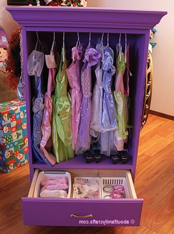 Dress Up Armoire {As Seen On Pinterest} – About Family Crafts Intended For Newest Kids Dress Up Wardrobes Closet (View 5 of 15)