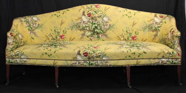 Early 19Th Century Federal Sofa At 1Stdibs With Trendy Yellow Chintz Sofas (Gallery 2 of 10)