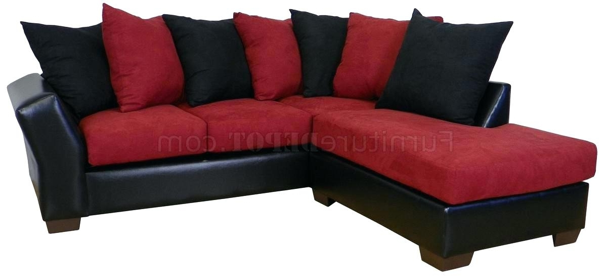 Elegant Black Sectional Sofas For Medium Size Of Sectional Small With Regard To Well Known Red Black Sectional Sofas (Gallery 4 of 10)