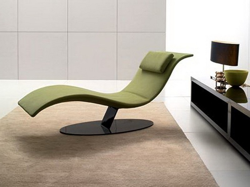 Elegant Indoor Chaise Lounge Solano Contemporary Intended For For Favorite Modern Chaise Lounge Chairs (View 4 of 15)