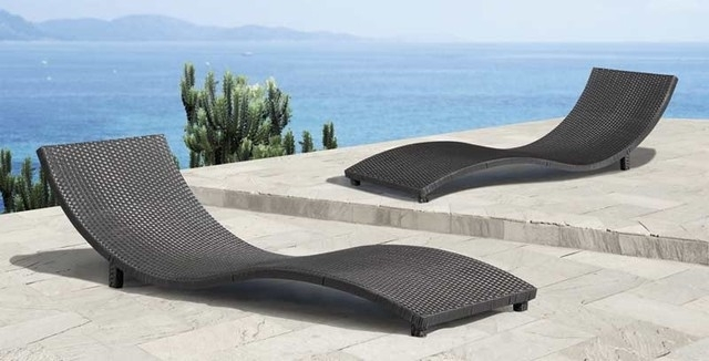 Elegant Modern Outdoor Lounge Chair Modern Outdoor Pool Furniture For Most Popular Modern Outdoor Chaise Lounge Chairs (View 2 of 15)