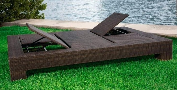 Eliana Outdoor Brown Wicker Chaise Lounge Chairs Intended For Preferred Wicker Outdoor Chaise Lounge Outdoor Wicker Chaise Lounge Set (View 5 of 15)