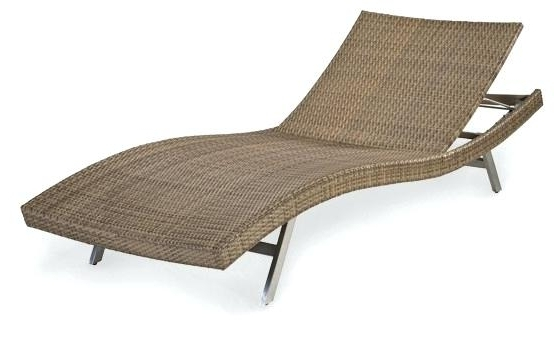 Eliana Outdoor Brown Wicker Chaise Lounge Chairs Within Widely Used Wicker Chaise Lounge Outdoor Pacific Outdoor Wicker Chaise Lounge (View 8 of 15)