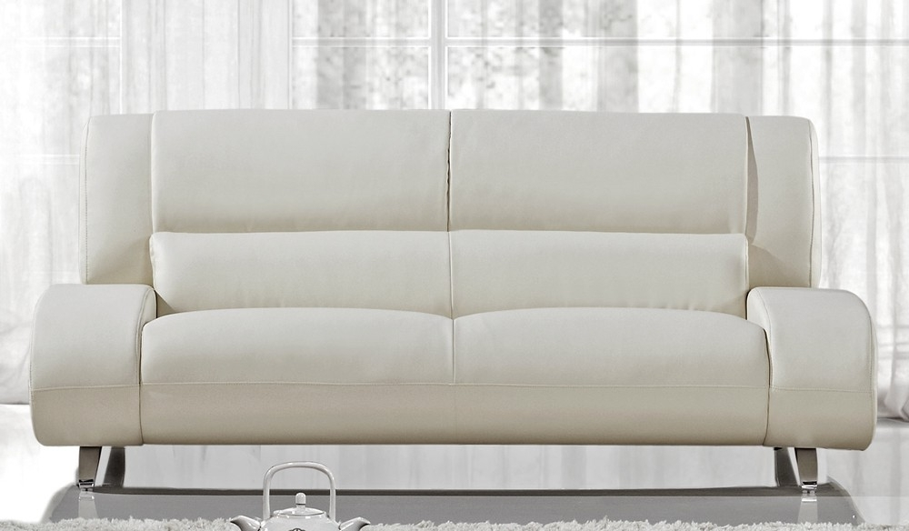 Enchanting Off White Leather Sofa With Modern Throughout Within Newest Off White Leather Sofas (View 3 of 10)