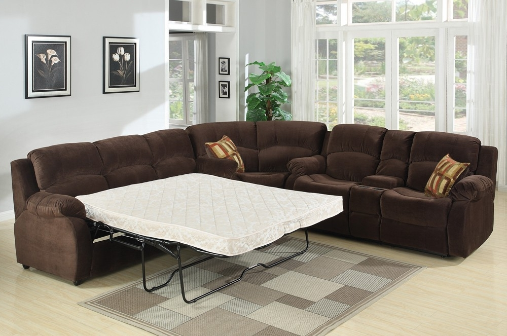 Endearing Leather Sectional Sofa Sleeper Sectional Sofas Sleeper Regarding Famous Chaise Sofa Sleepers (View 9 of 15)