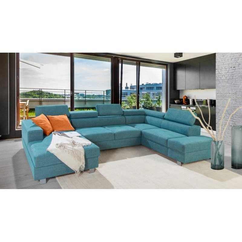 Enzo Modulio Ii U Shaped Modular Sofa – Sofas – Sena Home Furniture Intended For 2017 Blue U Shaped Sectionals (View 10 of 10)