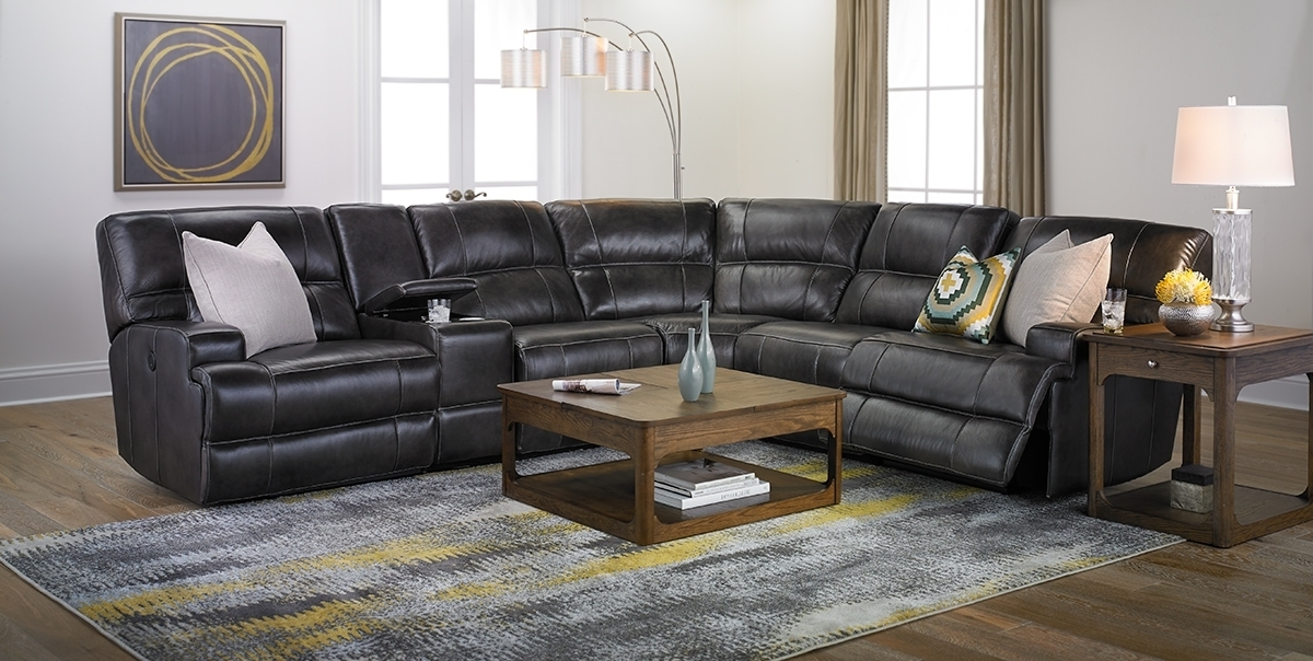 Era Nouveau Top Grain Power Reclining Sectional (Gallery 10 of 10)