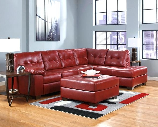 Ergonomic Red Leather Sectional Sofa Design – Gradfly (View 4 of 10)