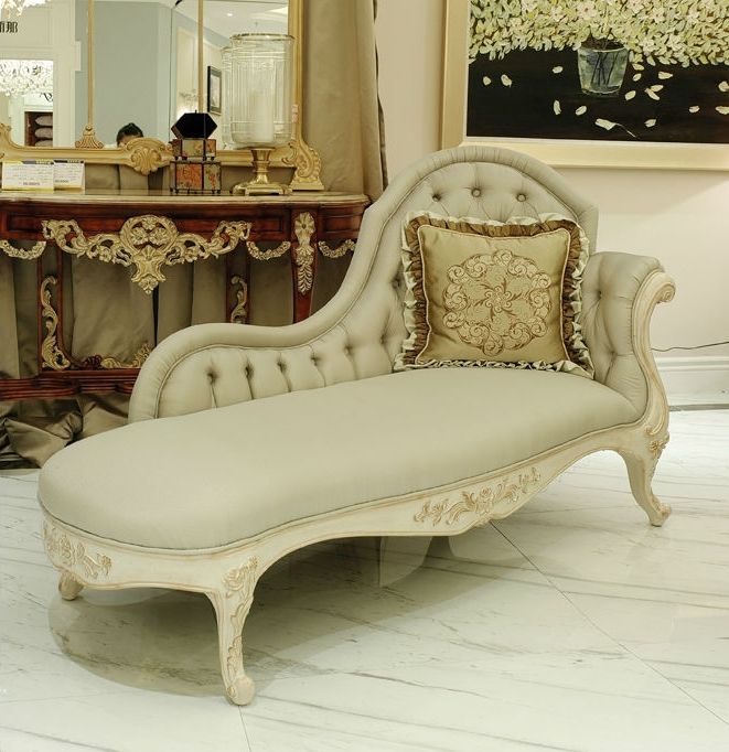 European Chaise Lounge Chairs Regarding Recent Antique European Wooden Lounge Chair Coveredgray Leather (View 6 of 15)