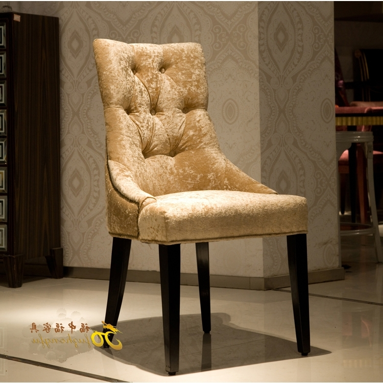 European Neo Classical Wood Dining Chair Fabric Sofa Chair After In 2018 Dining Sofa Chairs (View 5 of 10)