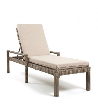 Fabric Outdoor Chaise Lounge Chairs With Most Recently Released Cabo Wicker Adjustable Chaise Lounge (View 9 of 15)