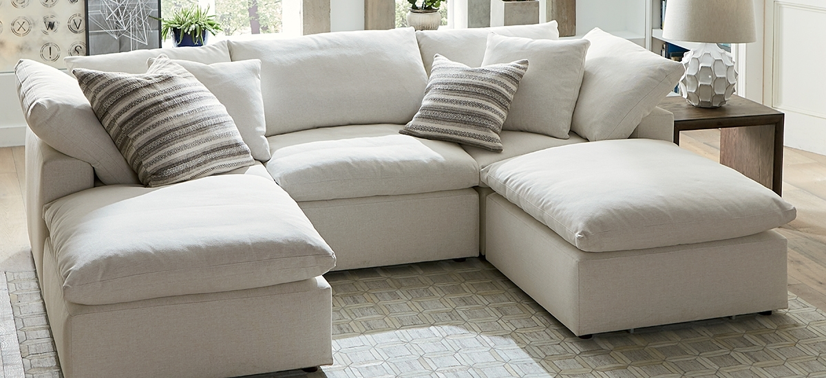 Fabric Sectionals Pertaining To Favorite Chaise Sofa Sectionals (View 7 of 15)