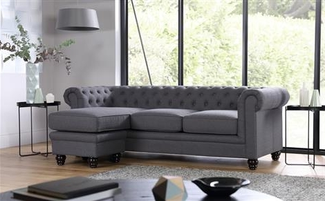 Fabric Sofas Intended For Famous Hampton Chesterfield Ivory Leather Corner Sofa Only £ (View 4 of 10)