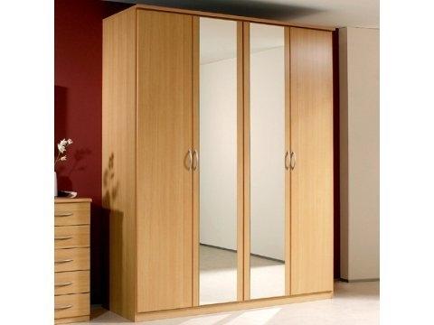Famous 4 Door Mirrored Wardrobes In Rauch – Kent 4 Door Centre Mirrored Robe – Kent 4 Door Centre (View 9 of 15)