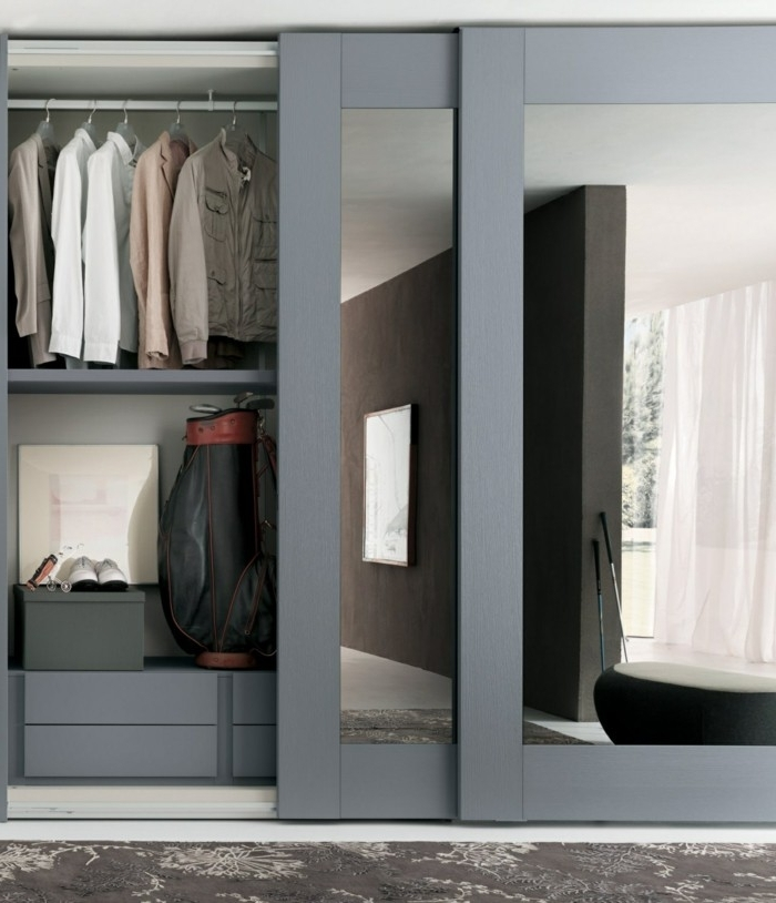 Famous Astonishing Modern Wardrobes Designs With Mirror For Bedrooms Throughout Wardrobes With Mirror (View 7 of 15)
