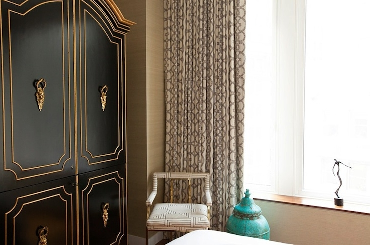 Famous Black French Wardrobes Pertaining To Black And Gold French Armoire – French – Bedroom – Carlyle Designs (View 10 of 15)