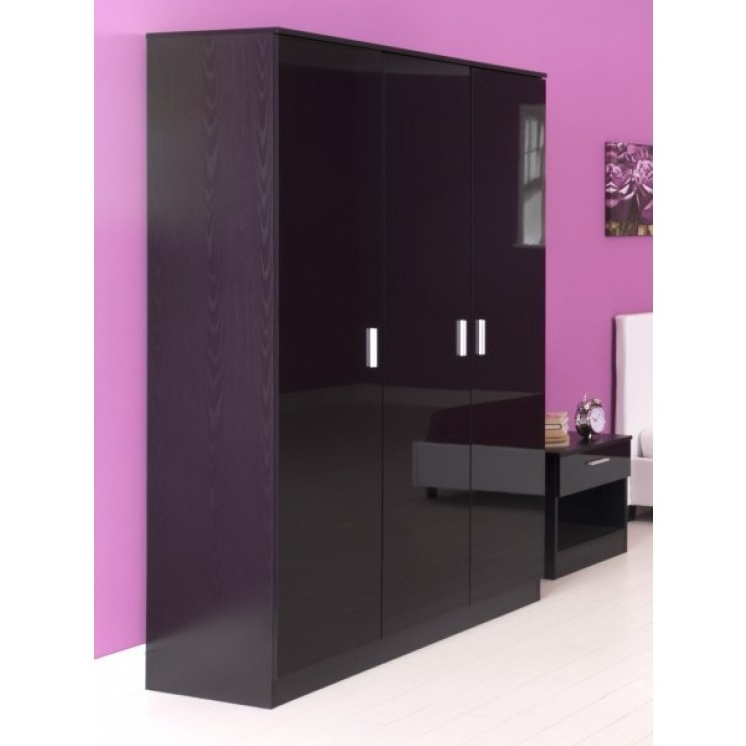 Famous Black Shiny Wardrobes With Regard To Wardrobes (View 8 of 15)