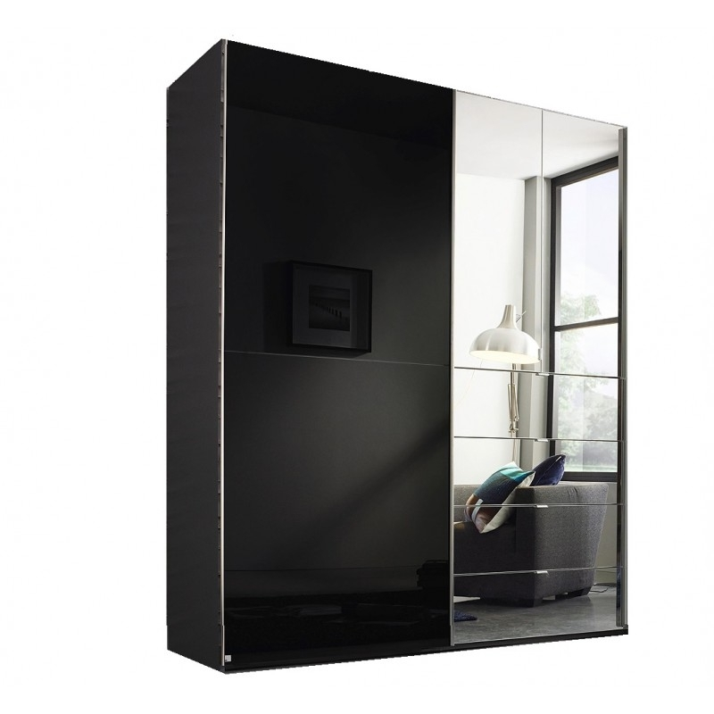 Famous Black Wardrobes With Drawers Within Black Wardrobes With Mirrors And Drawers Sliders With Drawers (View 7 of 15)