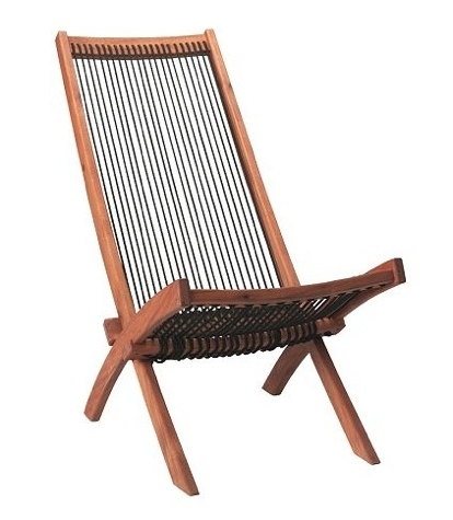 Famous Brommo Folding Deck Chair; Acacia Wood And Polypropylene Rope For Inexpensive Outdoor Chaise Lounge Chairs (View 14 of 15)