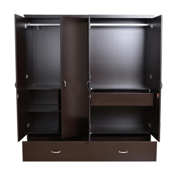Famous Buy Utsav Four Door Wardrobe With Mirror In Wenge Finish Online In With Regard To Wardrobes With 4 Doors (View 5 of 15)