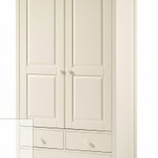 Famous Cameo 2 Door Wardrobes With Cameo Ivory 2 Door / 2 Drawer Wardrobe (View 4 of 15)