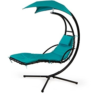 Famous Chaise Lounge Swing Chairs Throughout Amazon : Xtremepowerus Floating Swing Chaise Lounge Chair (View 4 of 15)