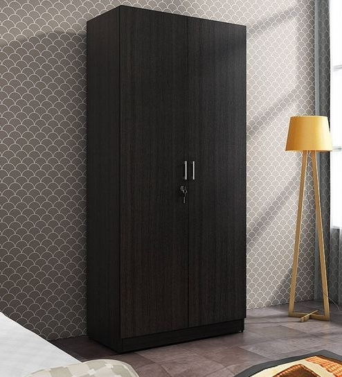 Famous Cheap 2 Door Wardrobes Regarding Buy Kosmo Optima Two Door Wardrobe In Wenge Finishspacewood (View 8 of 15)