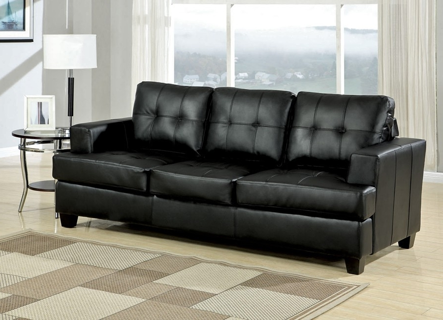 Famous Cheap Black Sofas Within Black Leather Sofa Bed (View 5 of 10)