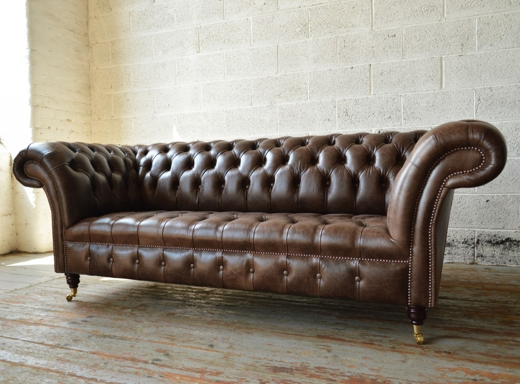 Famous Chesterfield Sofas And Chairs Inside Montana Leather Chesterfield Sofa (View 5 of 10)