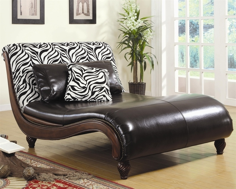 Famous Coaster Chaise Lounges With Regard To Animal Print Chaise Loungecoaster –  (View 8 of 15)