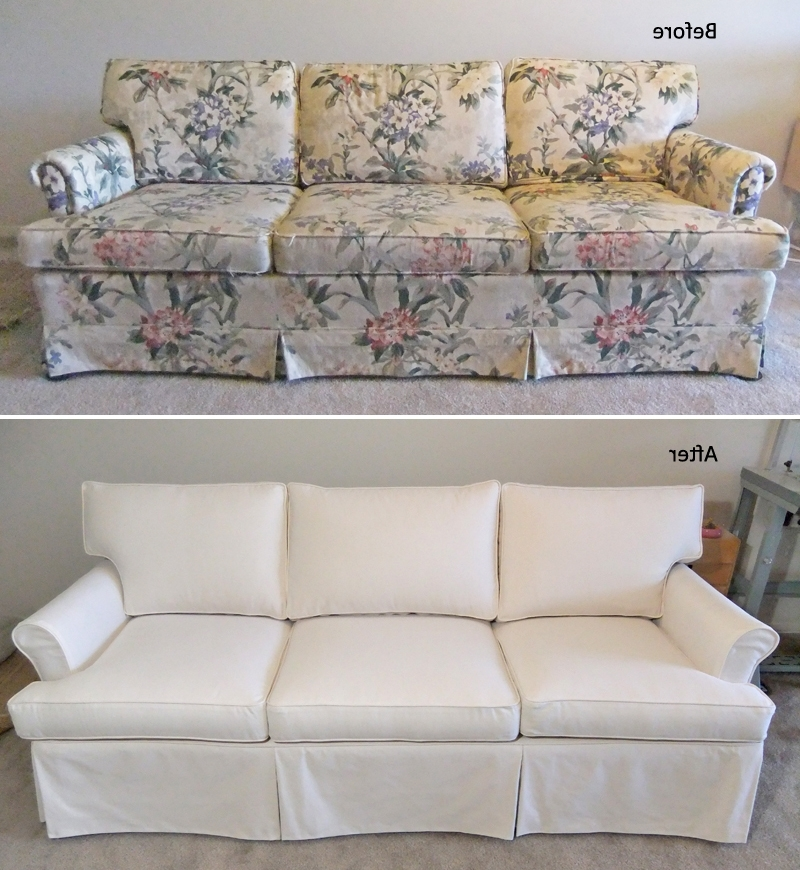 Famous Ethan Allen Sofas And Chairs Inside New Custom Slipcover For Old Ethan Allen Sofa (View 7 of 10)