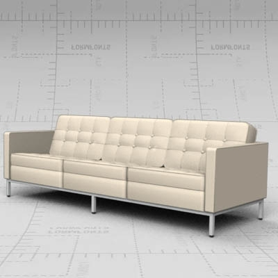 Famous Florence Sofa 3d Model – Formfonts 3d Models & Textures Regarding Florence Sofas And Loveseats (View 10 of 10)