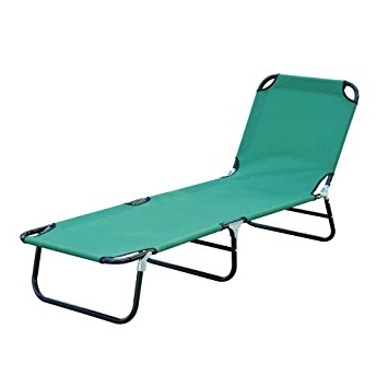 Famous Folding Chaise Lounges Regarding Amazon: Cot Bed Beach Pool Outdoor Sun Durable Folding Chaise (View 4 of 15)
