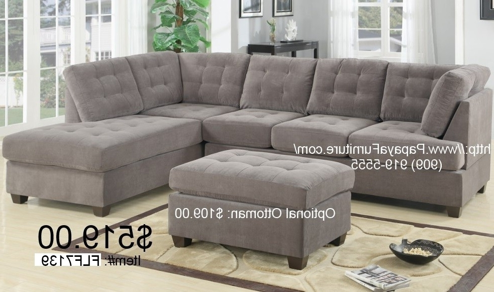 Famous Gray Sectionals With Chaise Regarding Gray Sectional Couch With Reversible Chaise – Cl2 Lowest Price (View 4 of 15)