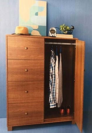 Famous Home Source – Small Wardrobe Sideboard 1 Door 4 Drawer Bedroom Regarding Small Tallboy Wardrobes (View 3 of 15)