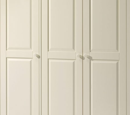 Famous Julian Bowen White Cameo 3 Door Wardrobe Inside Cameo Wardrobes (View 6 of 15)