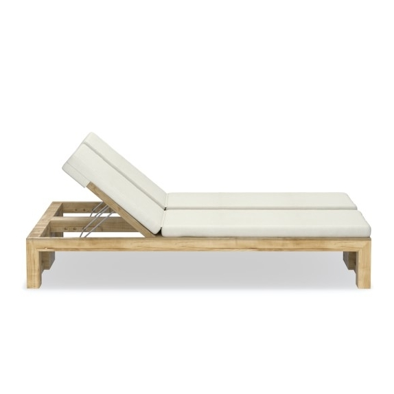 Famous Larnaca Outdoor Teak Double Chaise (View 4 of 15)