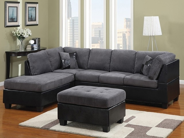 Famous Microfiber Sectional Sofa – Zazoulounge Regarding Microfiber Sectional Sofas With Chaise (View 2 of 15)
