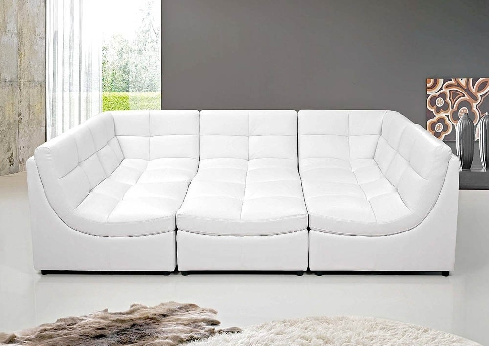 Famous Modular Sectional Sofa With Regard To Leather Modular Sectional Sofas (View 5 of 10)