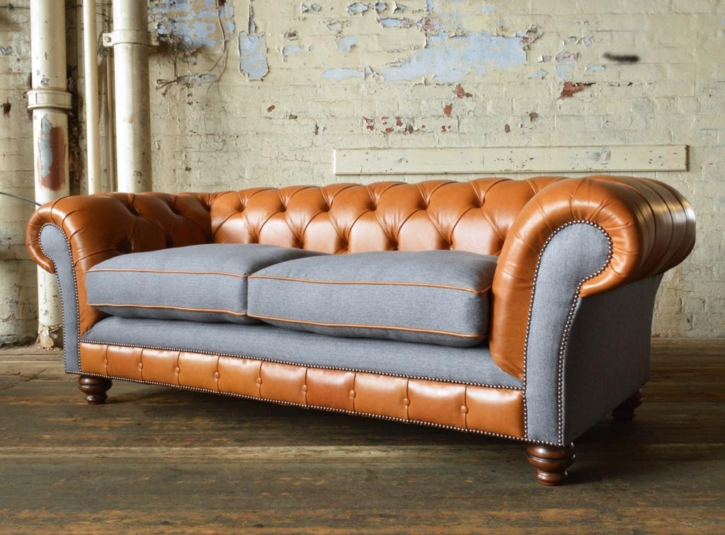 Famous Naunton Leather Chesterfield Sofa (View 6 of 10)