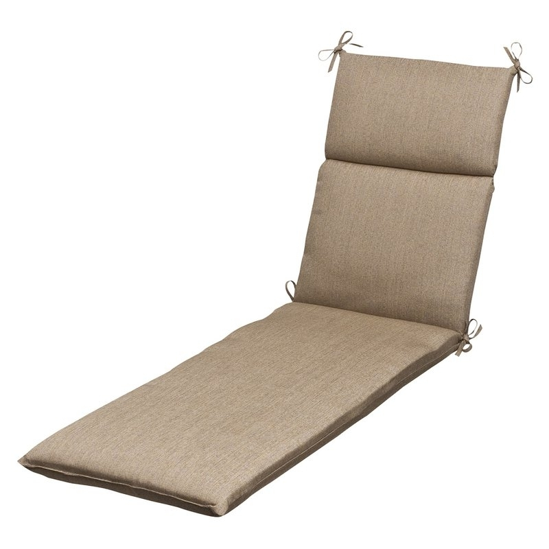 Famous Pillow Perfect Outdoor Sunbrella Chaise Lounge Cushion & Reviews Regarding Sunbrella Chaise Lounge Cushions (View 1 of 15)