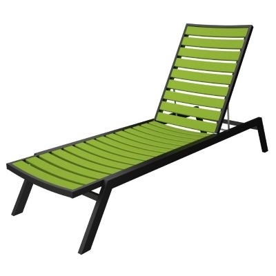 Famous Polywood® Euro Aluminum Outdoor Chaise Lounge With Black Frame Pw With Regard To Outdoor Chaise Lounges (Gallery 9 of 15)
