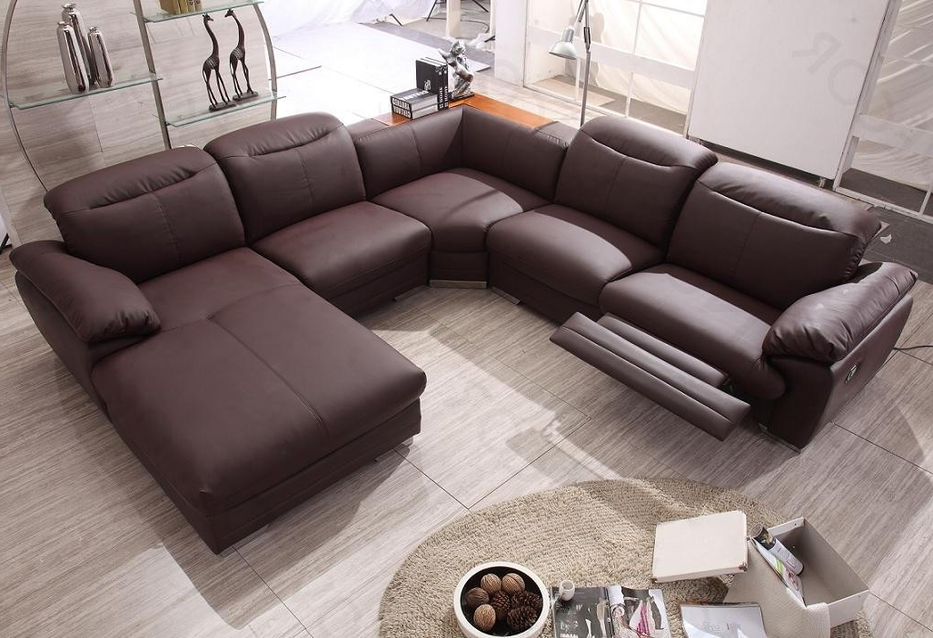 Famous Reclining Sectionals With Chaise Intended For Modern Reclining Sectional Elegant Contemporary Sofa With Recliner (View 13 of 15)