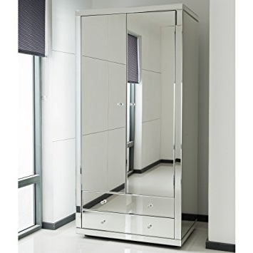 Famous Romano Crystal Mirrored Wardrobe: Amazon.co (View 5 of 15)