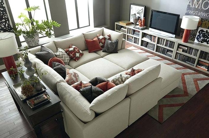 Famous Sectional Couches With Large Ottoman Within Sectional Sofas With Ottoman Sectional Sofa Large Ottoman (View 3 of 10)