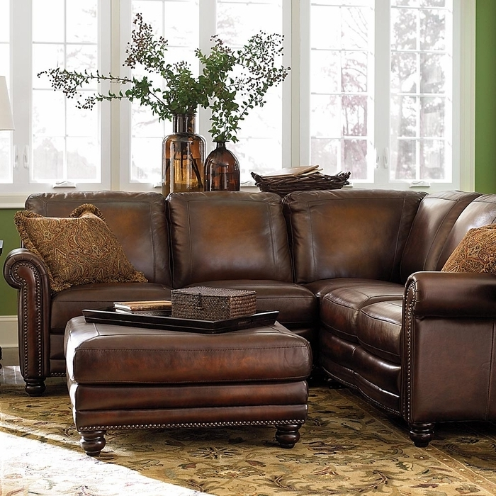 Famous Sectional Sofas At Bassett Inside Hamilton Leather Sectional Sofabassett Furniture – Bassett (View 6 of 10)