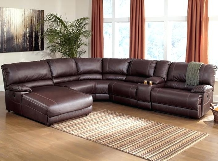 Famous Sectional Sofas With Power Recliners Intended For Sectional Power Recliner Ferrara Leather Recliner Sectional Sofa (View 2 of 10)